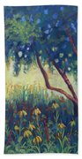 Hummingbird Gardens Beach Towel