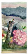 Hummingbird Haven Beach Towel
