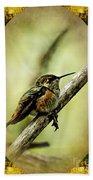 Hummingbird Noveau Beach Towel