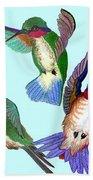 Hummingbirds Beach Towel