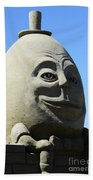 Humpty Dumpty Sand Sculpture Beach Towel by Bob Christopher