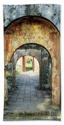 Hung Temple Arches Beach Towel