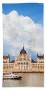 Hungarian Parliament Building Beach Sheet