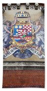 Hungary Coat Of Arms In Budapest Beach Towel