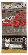 Hunter's Drug Store Coca-cola Mural Greensboro Georgia Marion Post Wolcott Fsa Spring 1939-2014  Beach Towel