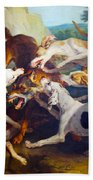 Hunting Dogs Detail Beach Towel
