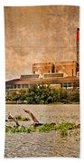 Huntly Power Station Beach Towel