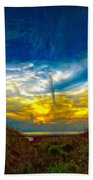 Huron Evening 2 Oil Beach Towel