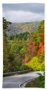 Hwy 281 In The Fall  Beach Towel