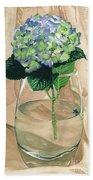 Hydrangea Blossom Beach Towel