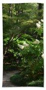 Hydrangea Path Beach Towel
