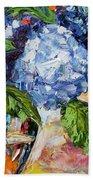 Hydrangeas Beach Towel