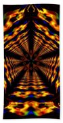Hyper-jump Rainbow Portal No.5 Beach Towel