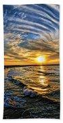 Hypnotic Sunset At Israel Beach Towel by Ron Shoshani