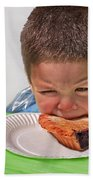 I Don't Want To - Pie Eating Contest Art Prints Beach Towel