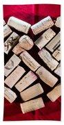 I Love Red Wine - Square Beach Towel