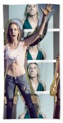 I Love You Iggy Pop Beach Towel