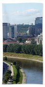 I Love You. Vilnius. Lithuania Beach Towel