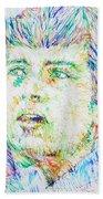 Ian Curtis Portrait Beach Towel
