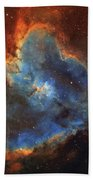 Ic 1805, The Heart Nebula In Cassiopeia Beach Towel