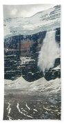 1m3545-01-ice Avalanche On Mt. Victoria Beach Towel