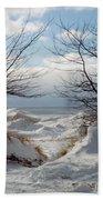 Ice Between The Trees Beach Towel
