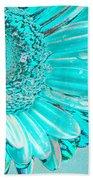 Ice Blue Beach Towel by Carol Lynch