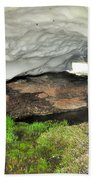 Ice Cave At The Mountains Beach Towel