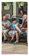 Ice Cream Eaters...an Observation Beach Towel