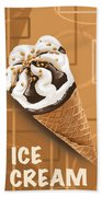 Ice Cream Beach Towel