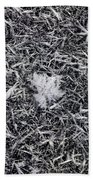 1m9343-ice Crystals On Black Ice, Tetons Beach Towel