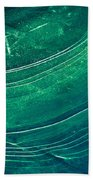 Ice Curve In Green Beach Towel