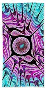 Ice Dragon Eye Beach Towel