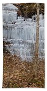 Ice Falls Beach Towel