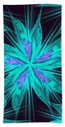 Ice Flower Beach Towel