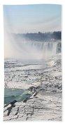 Ice Flows At Niagara Beach Towel