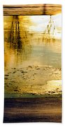 Ice On The River Beach Towel