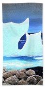 Icebergs At Sunset Beach Towel