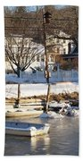 Icebound Harbor Beach Towel