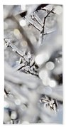 Iced Branches Beach Towel