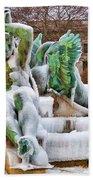 Iced Swann Fountain Beach Towel