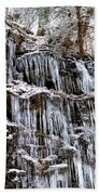 Icicles On Forbidden Drive Beach Towel