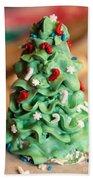 Icing Christmas Tree Beach Towel