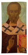 Icon Of St. Nicholas Beach Towel