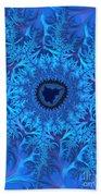 Icy Blue  Beach Towel