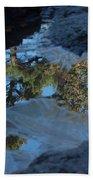 Icy Evergreen Reflection Beach Towel