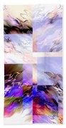 Icy Flames Beach Towel by Hakon Soreide