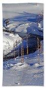 Icy Flow Beach Towel