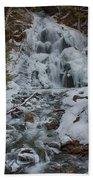 Icy Flow Of Water Beach Towel