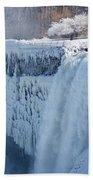 Icy Niagara Falls Beach Towel